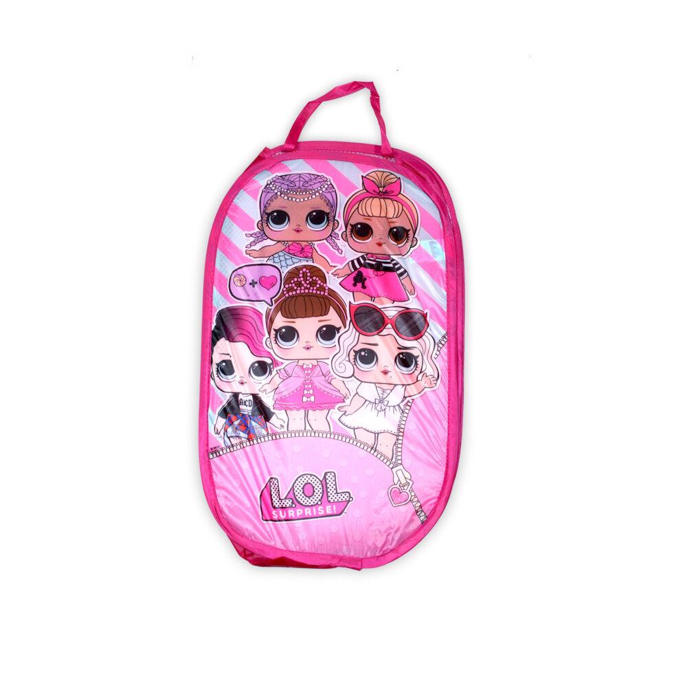 LOL Baba játéktároló kosár kislányoknak - világosrózsaszín