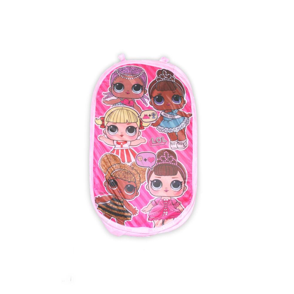LOL Baba játéktároló kosár kislányoknak - pink