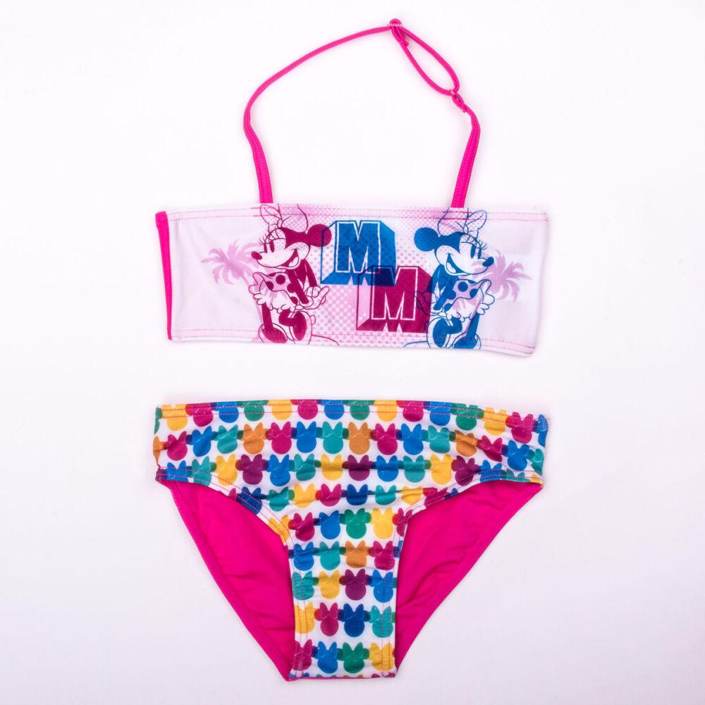 Minnie egér kislány fürdőruha - kétrészes fürdőruha - pink - 128