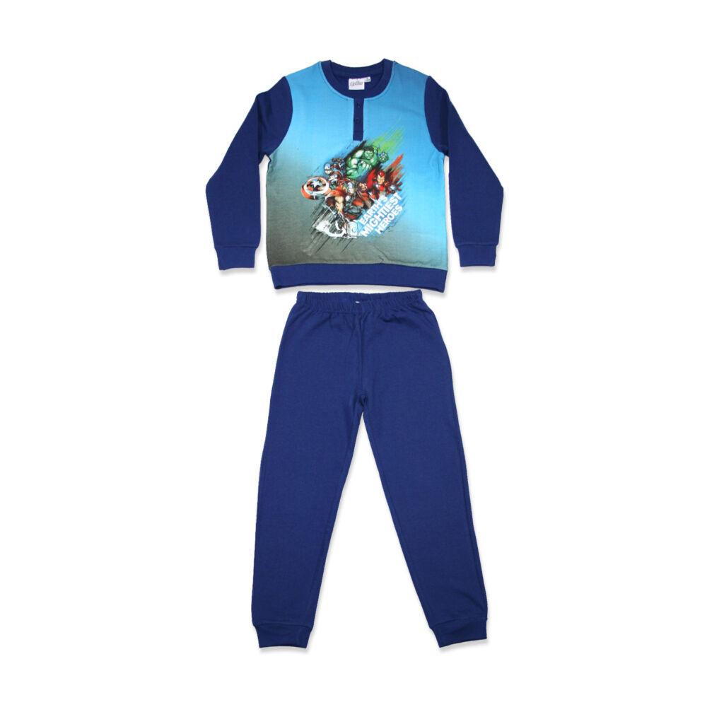 Téli flanel gyerek pizsama - Bosszúállók - sötétkék - 98