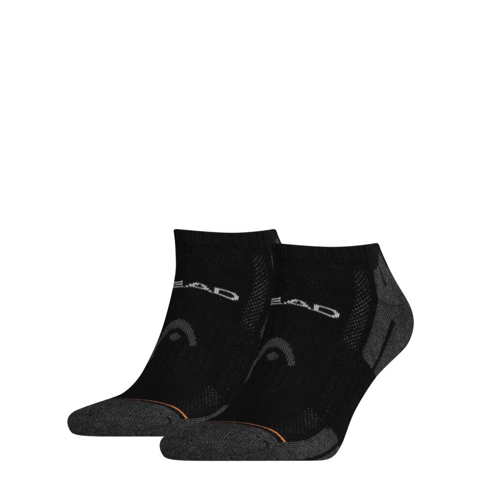 Head unisex performance sneaker - légátersztő félplüss talpú titokzokni - 2 pár/csomag - fekete - 43-46