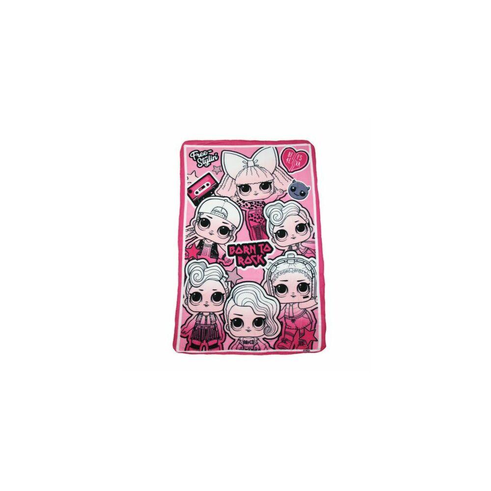 LOL Baba kislány polár takaró - 100 x 150 cm - rózsaszín