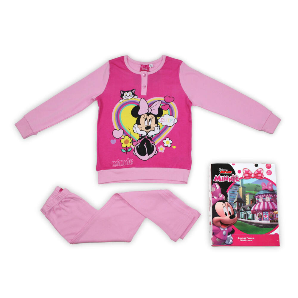 Téli pamut gyerek pizsama - Minnie egér - világosrózsaszín - 104