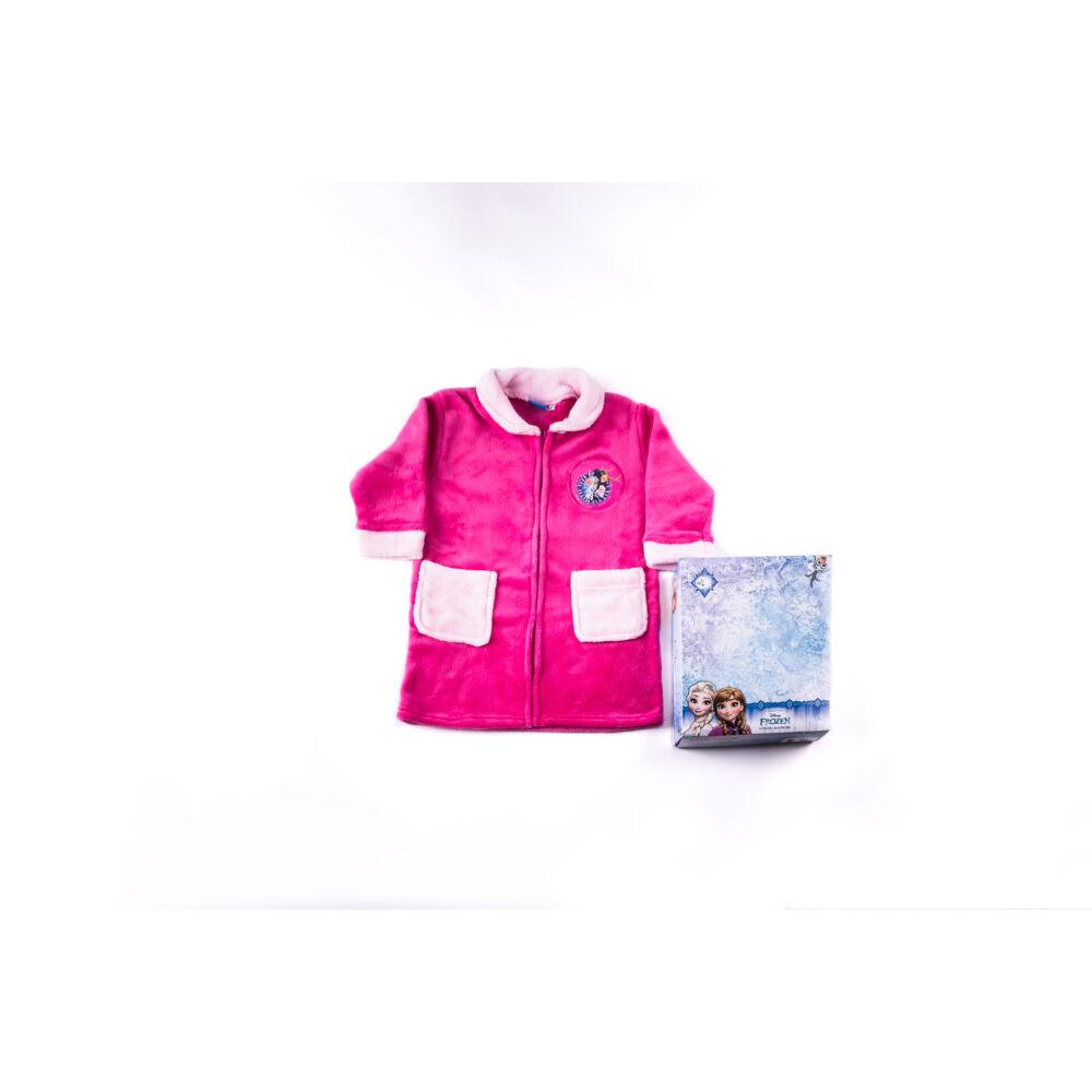 Gyerek köntös - coral - Jégvarázs  - 128 - pink
