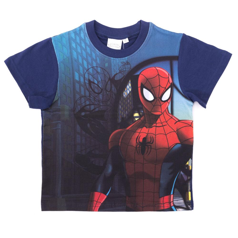 4f29aee0ff Pókember kisfiú rövid ujjú póló - sztreccs pamut póló - sötétkék_104