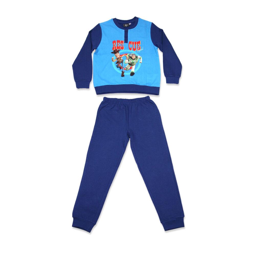 Téli flanel gyerek pizsama - Toy Story - sötétkék - 122