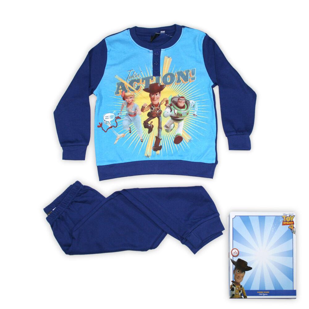 Toy Story kisfiú interlock pizsama - hosszú ujjú téli pizsama - sötétkék - 98