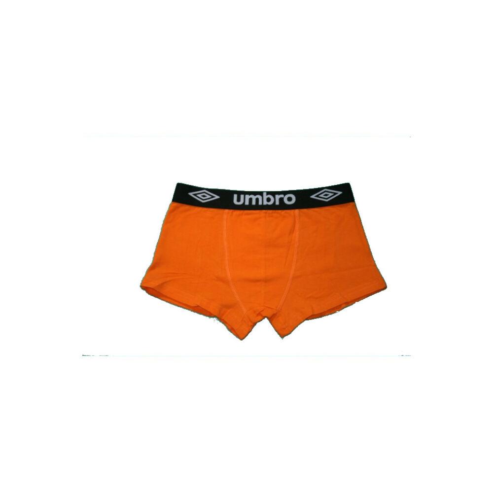 Férfi boxeralsó - pamut - M - narancssárga fekete derékgumival - Umbro