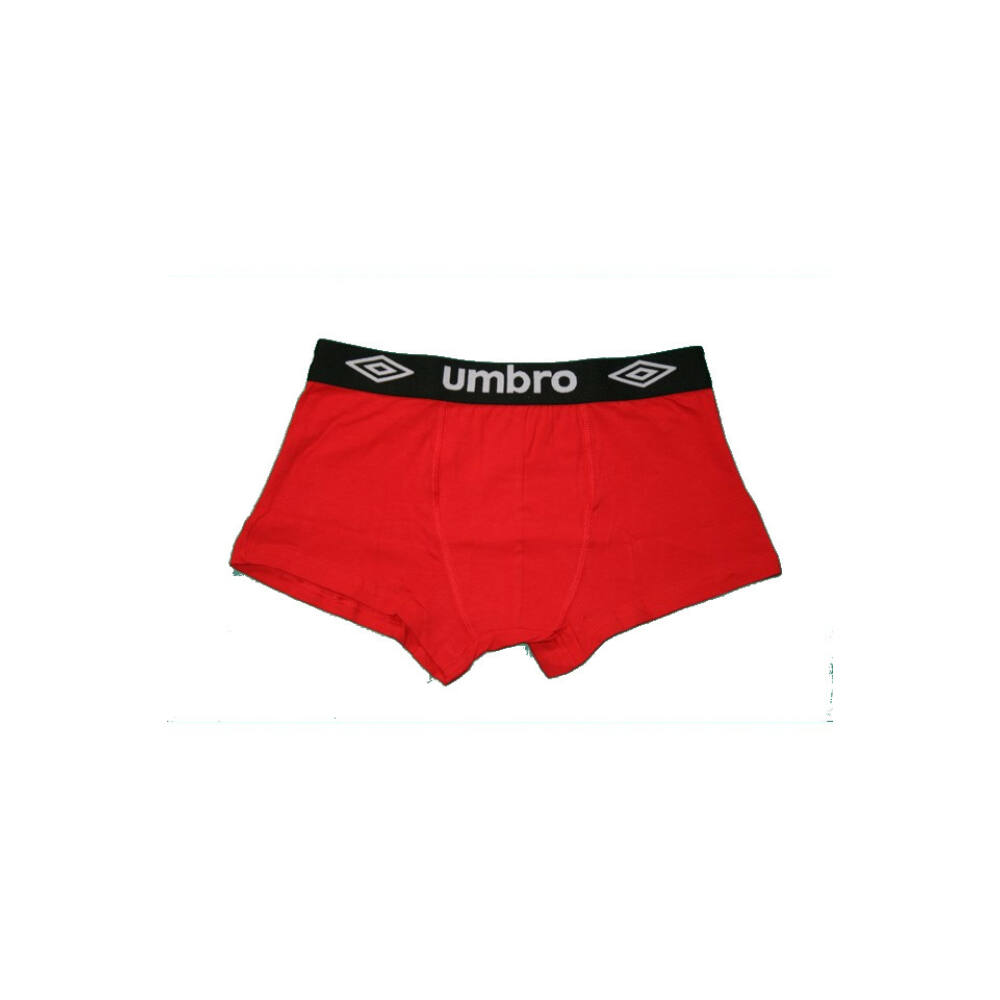 Férfi boxeralsó - pamut - L - piros fekete derékgumival - Umbro