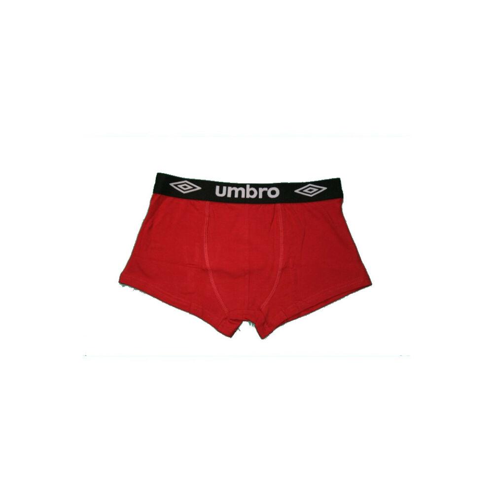 Férfi boxeralsó - pamut - XL - sötétpiros fekete derékgumival - Umbro