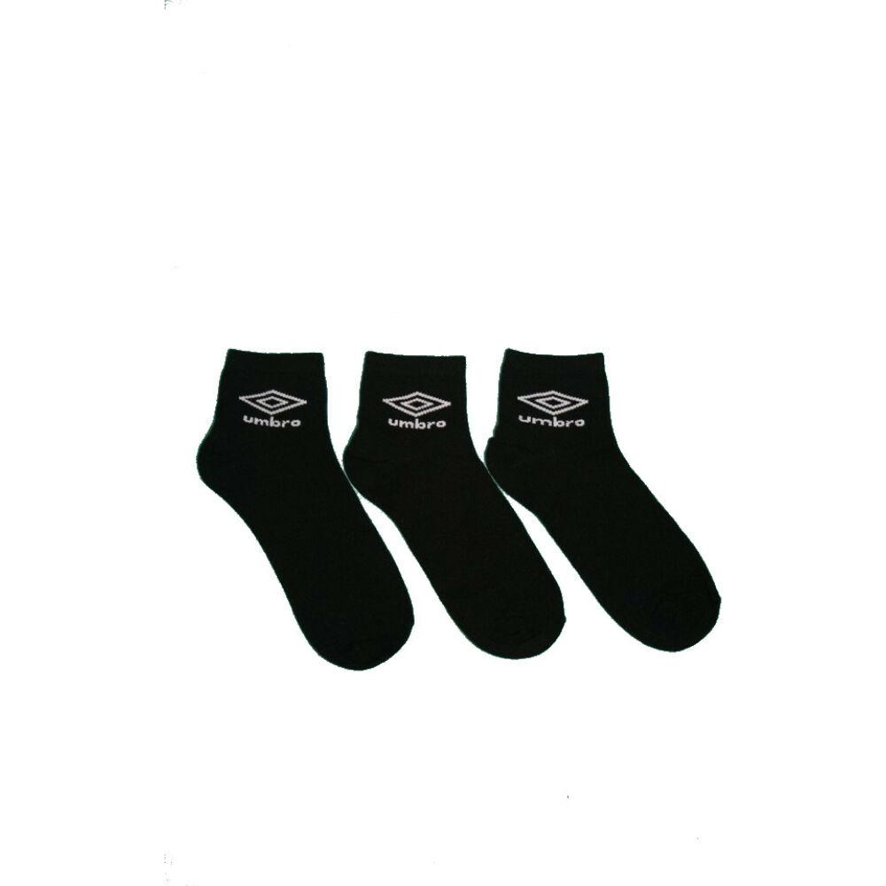 Unisex zokni - pamut rövid állású - 40-46 - fekete - Umbro