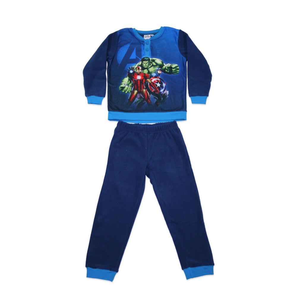 Gyerek téli polár pizsama - Bosszúállók - sötétkék - 128