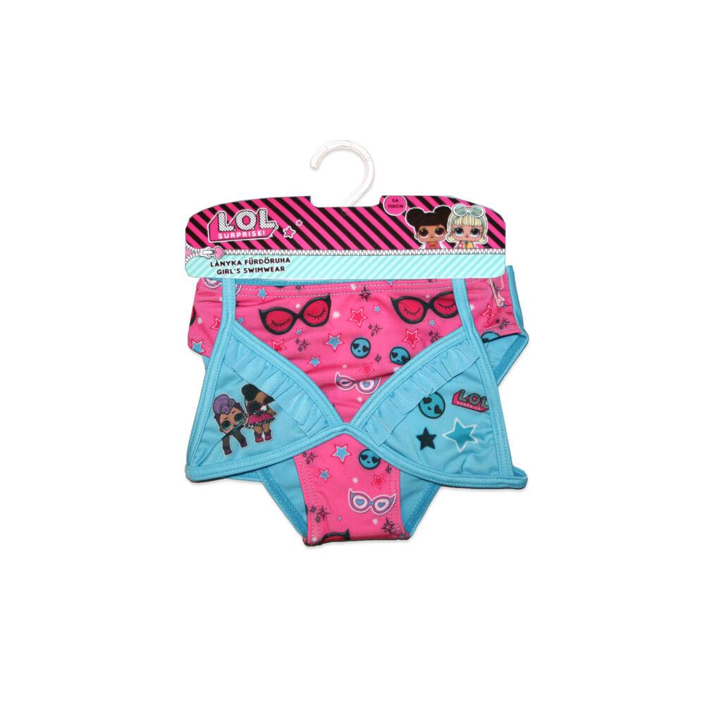 LOL Baba kétrészes fürdőruha kislányoknak - csillag mintával - türkizkék - 128