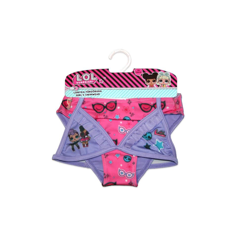 LOL Baba kétrészes fürdőruha kislányoknak - csillag mintával - világoslila - 98