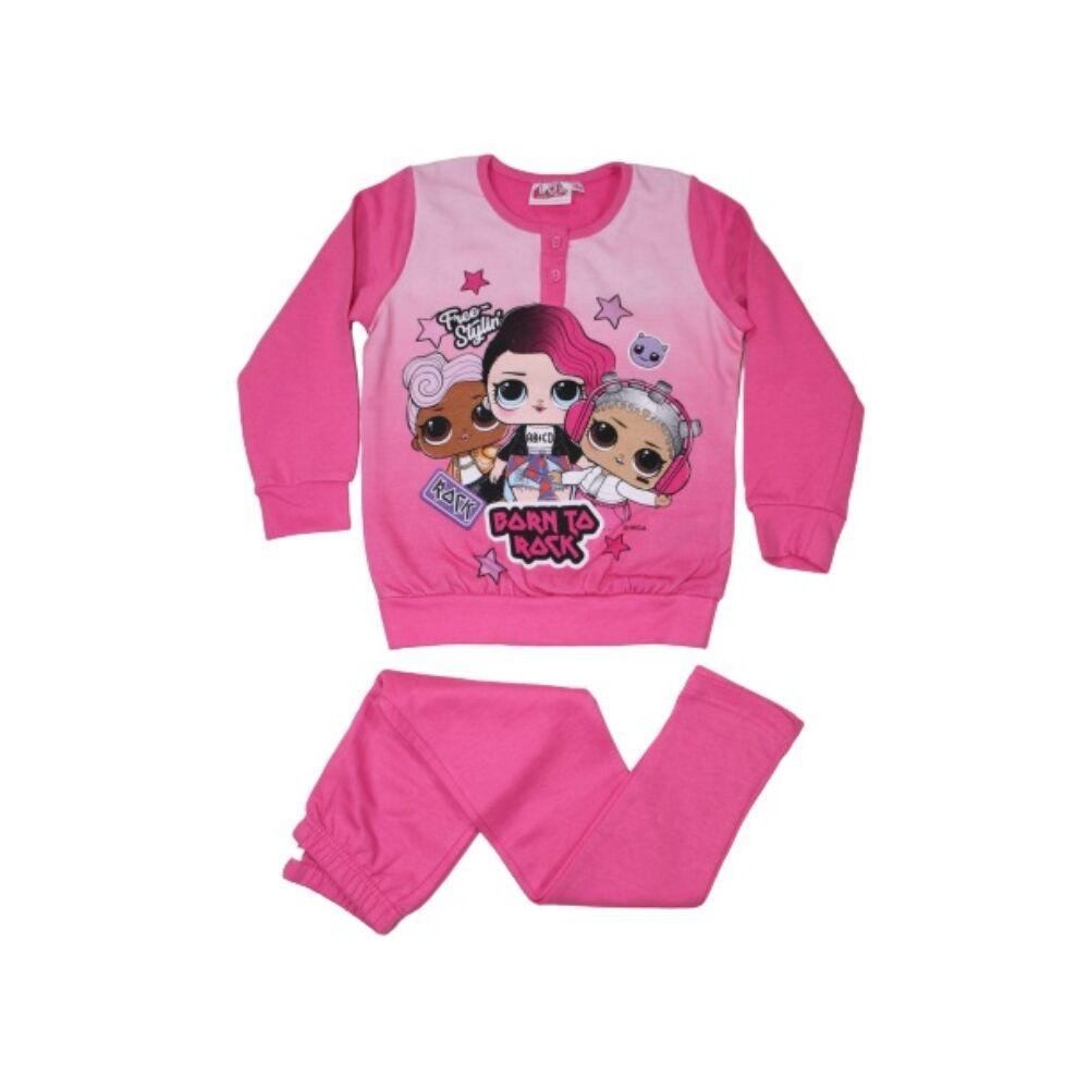 Téli flanel gyerek pizsama - LOL Baba - rózsaszín - 110