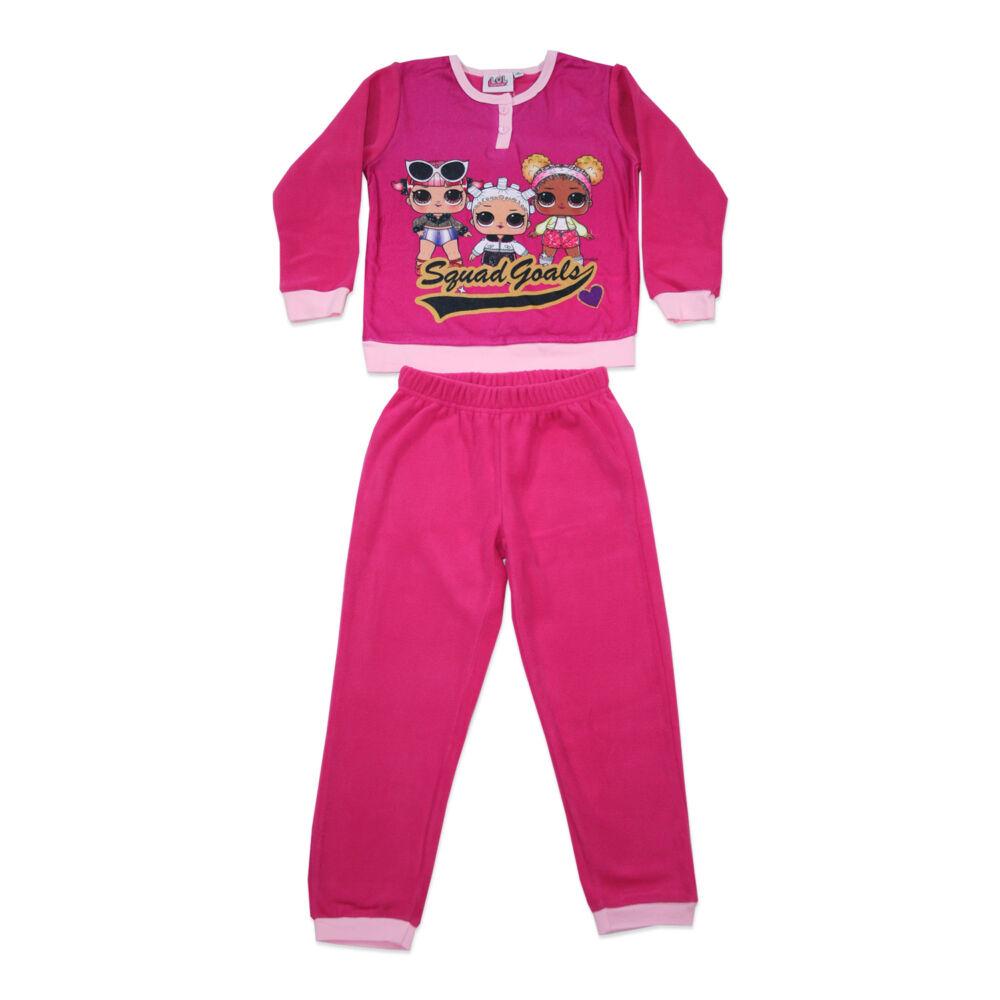 Gyerek téli polár pizsama - LOL Baba - pink - 128
