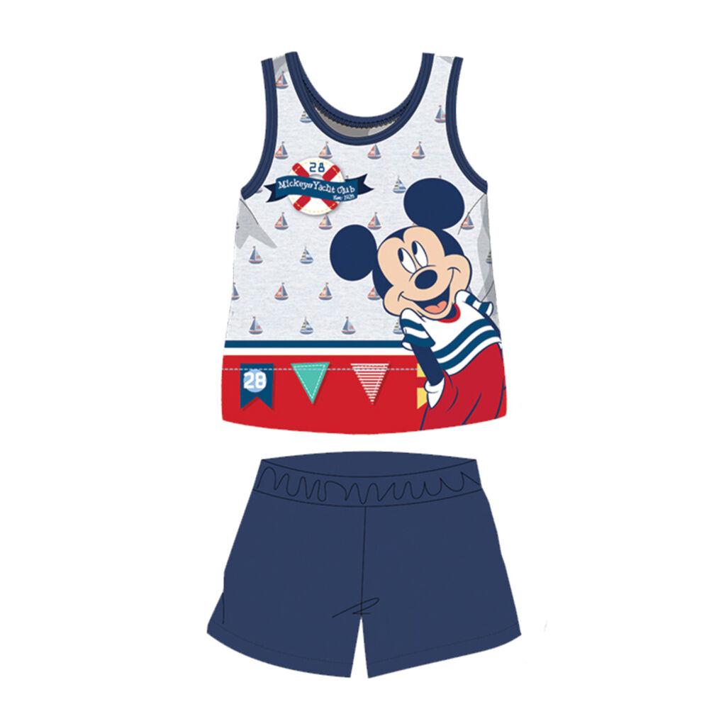 Nyári ujjatlan pamut baba pizsama - Disney Mickey egér - sötétkék - 92