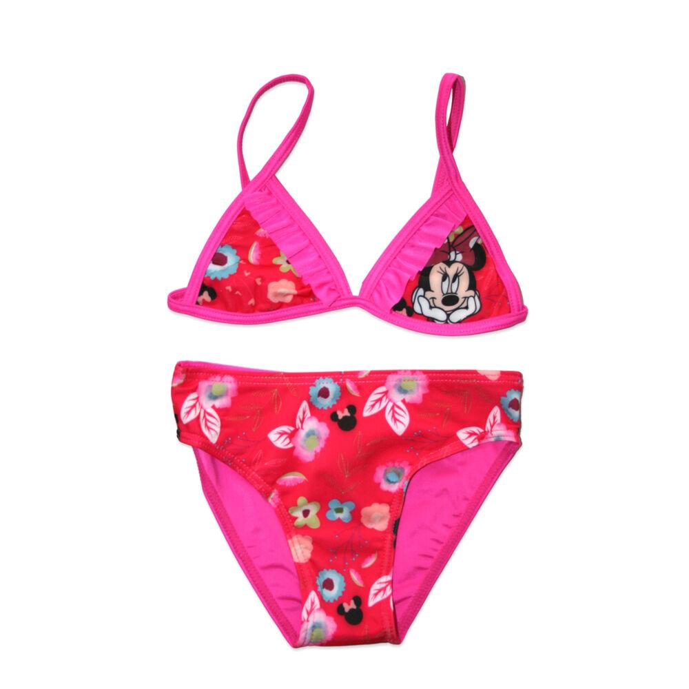 Disney Minnie egér kétrészes fürdőruha kislányoknak - virág mintával - pink - 98