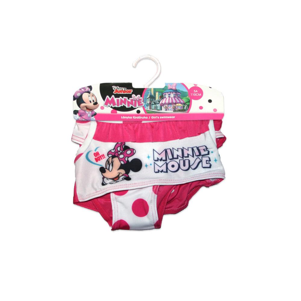 Disney Minnie egér kétrészes fürdőruha kislányoknak - pöttyös - pink-fehér - 122