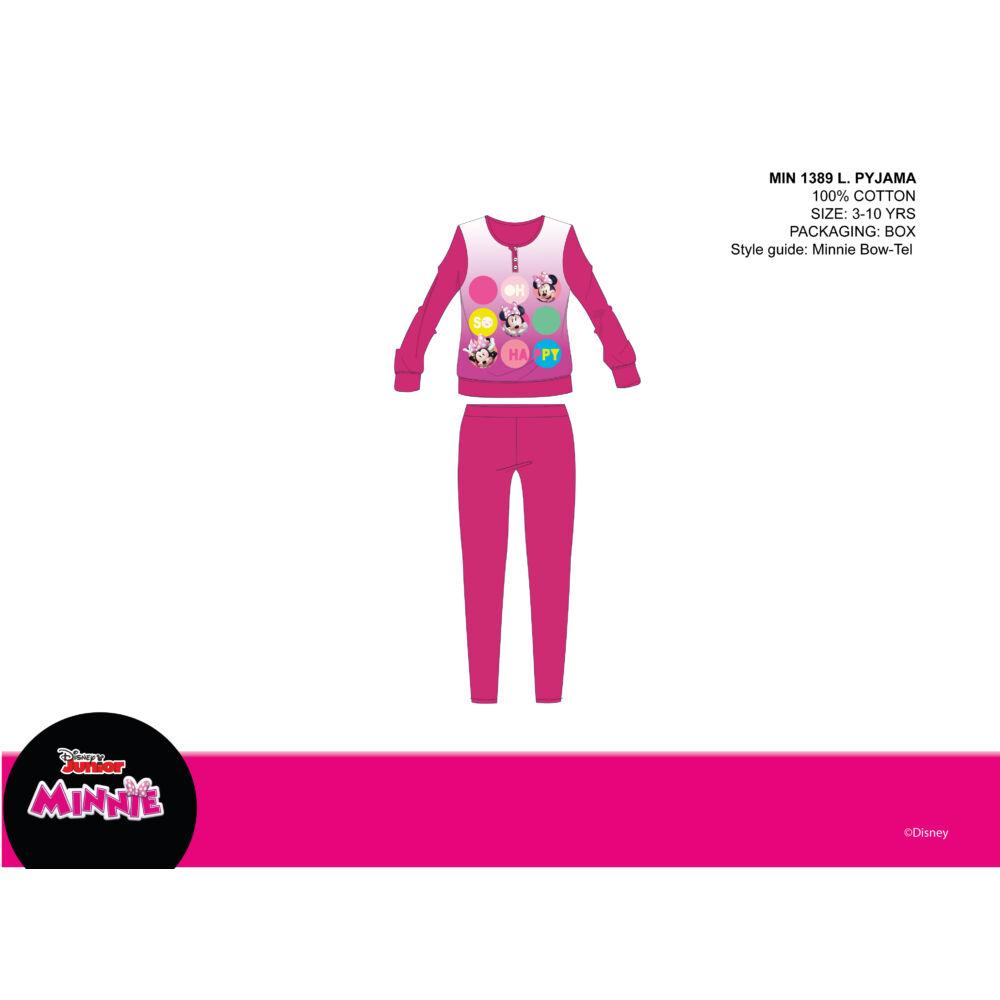 Disney Minnie egér vékony pamut gyerek pizsama - jersey pizsama - pink - 110