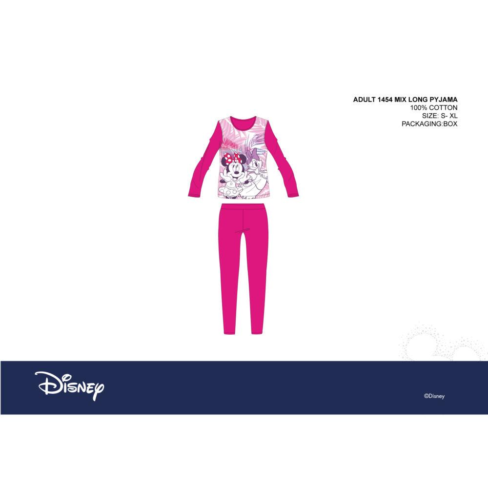 Disney Minnie egér női jersey pizsama - pamut pizsama - pink - M