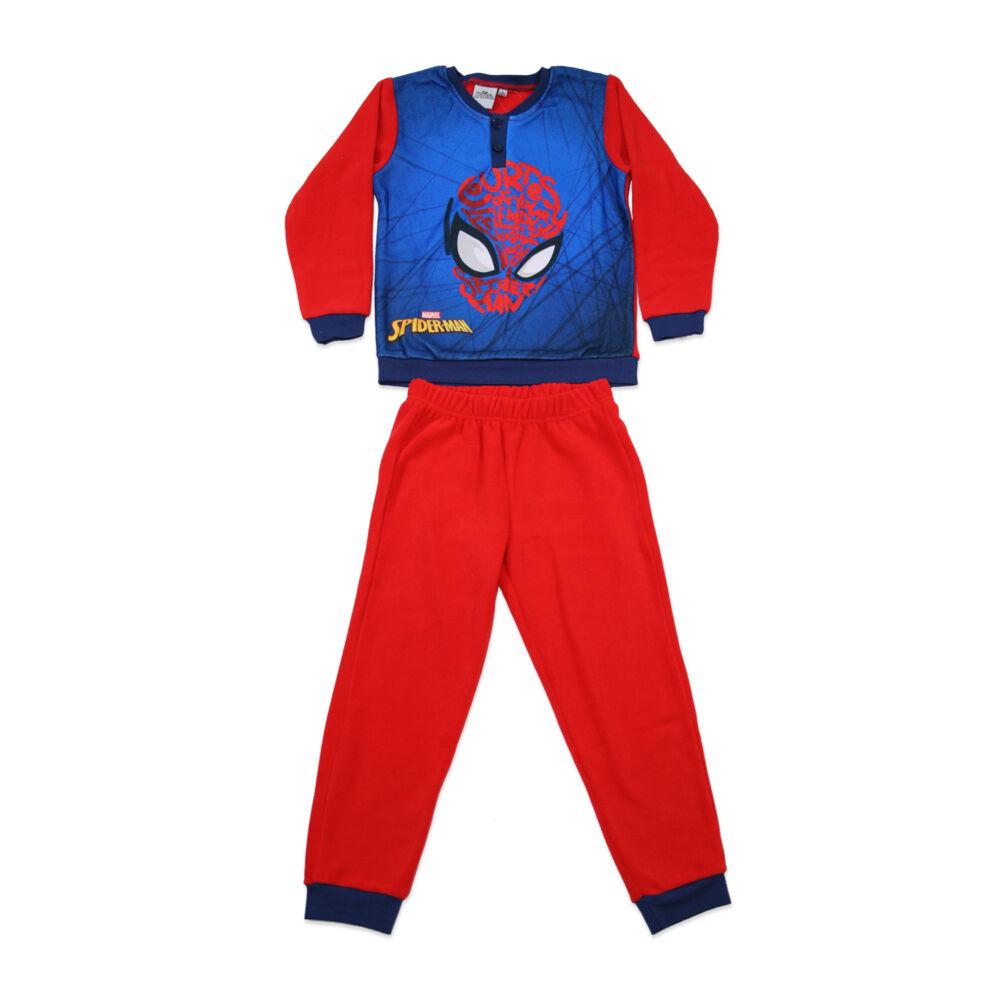Gyerek téli polár pizsama - Pókember - piros - 98