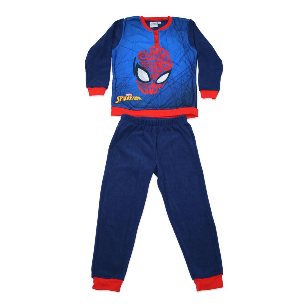 Gyerek téli polár pizsama - Pókember - sötétkék - 128
