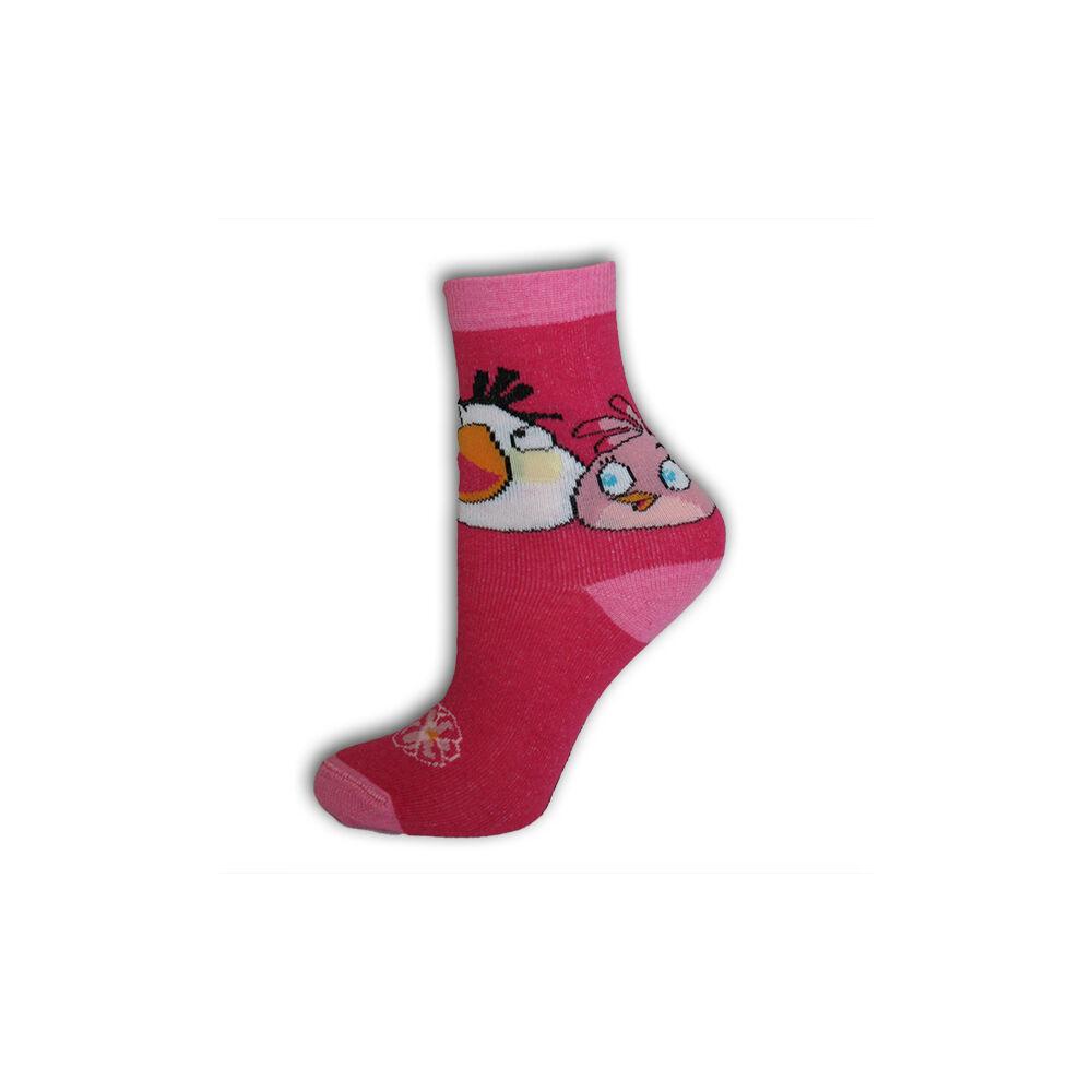 Angry Birds gyerek bokazokni - pamut bokazokni - 31-34 - pink