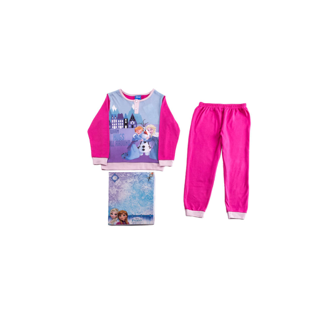 Jégvarázs gyerek pamut pizsama - interlock pizsama - rózsaszín