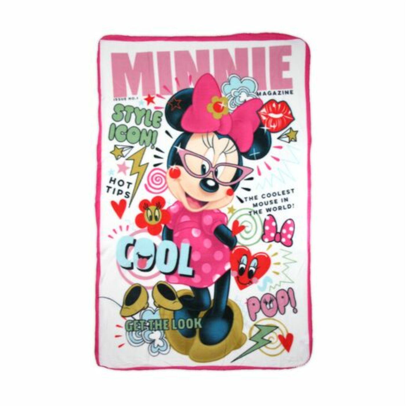 Minnie egér kislány polár takaró - 100 x 150 cm - fehér