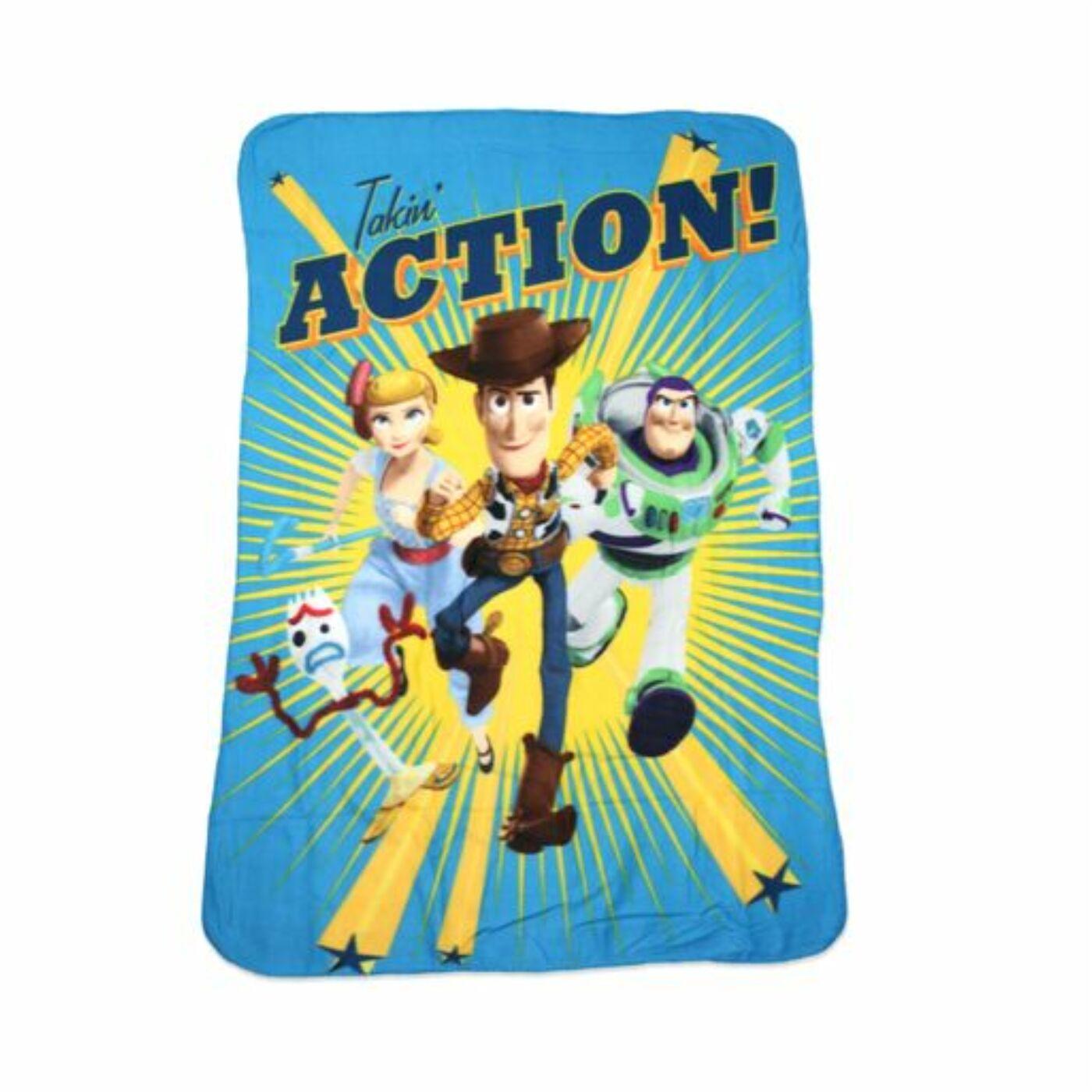 Toy Story kisfiú polár takaró - 100 x 150 cm - világoskék