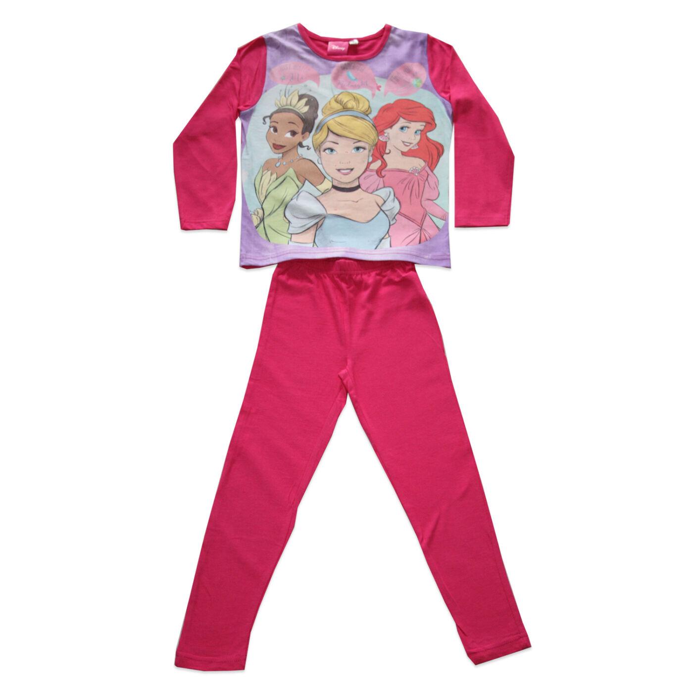 Hosszú vékony pamut gyerek pizsama - Hercegnők - Jersey