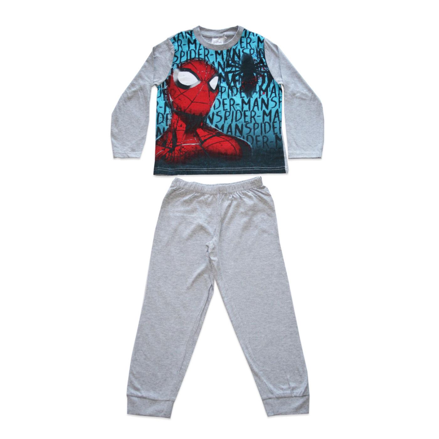 Hosszú vékony pamut gyerek pizsama - Pókember - Jersey
