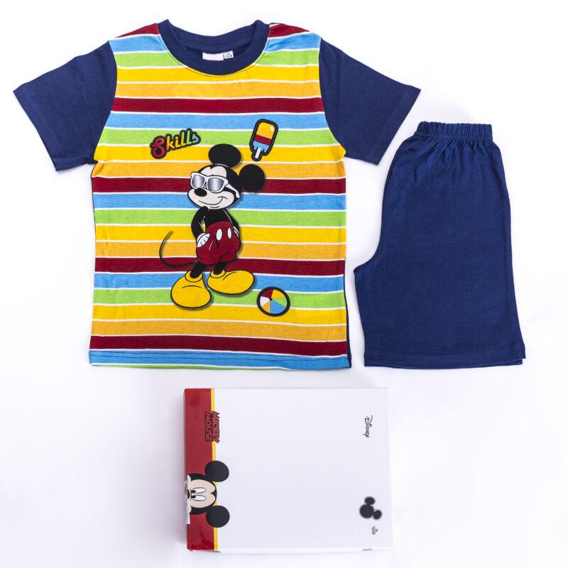 Mickey egér kisfiú pamut pizsama - rövid ujjú pizsama - nyári együttes - sötétkék - 98