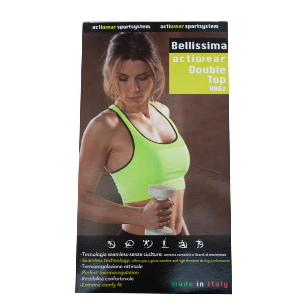 Női varrás nélküli sportmelltartó - uv zöld - S/M