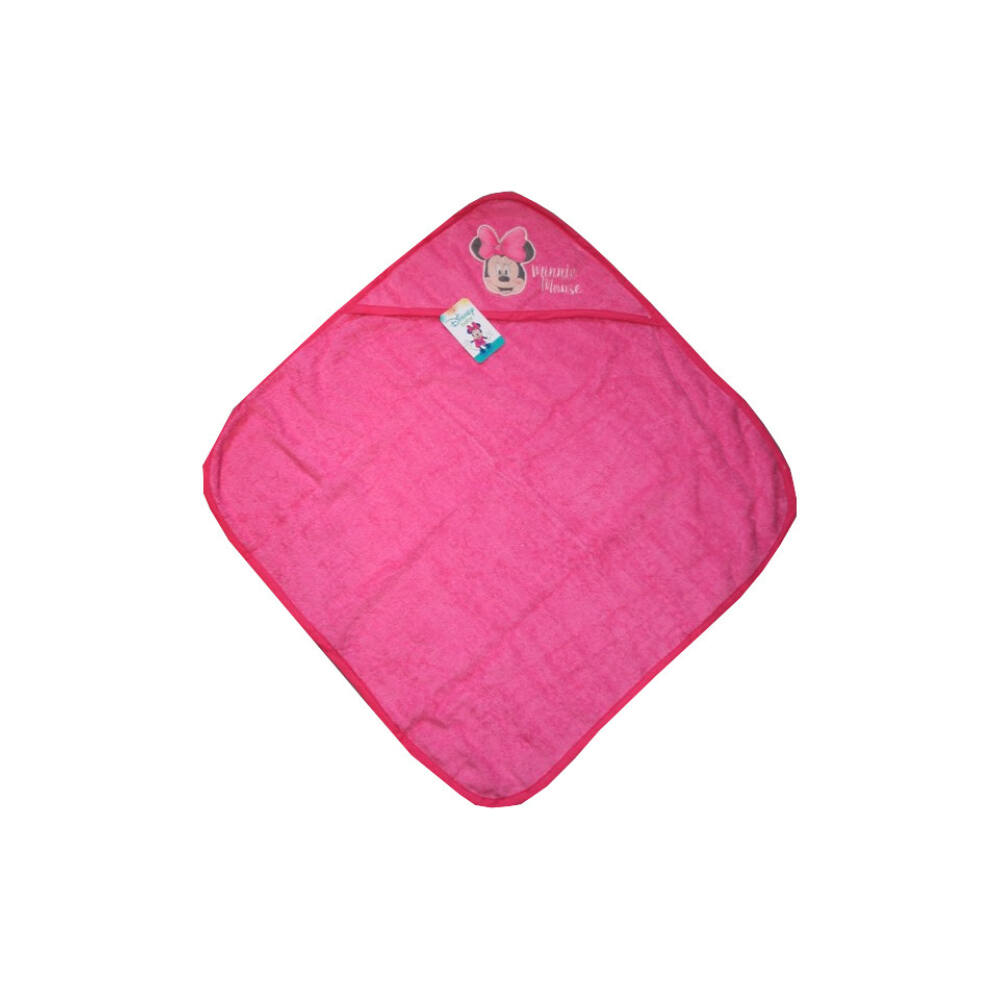 Minnie egér baba kapucnis törölköző - pamut babatörölköző – rózsaszín