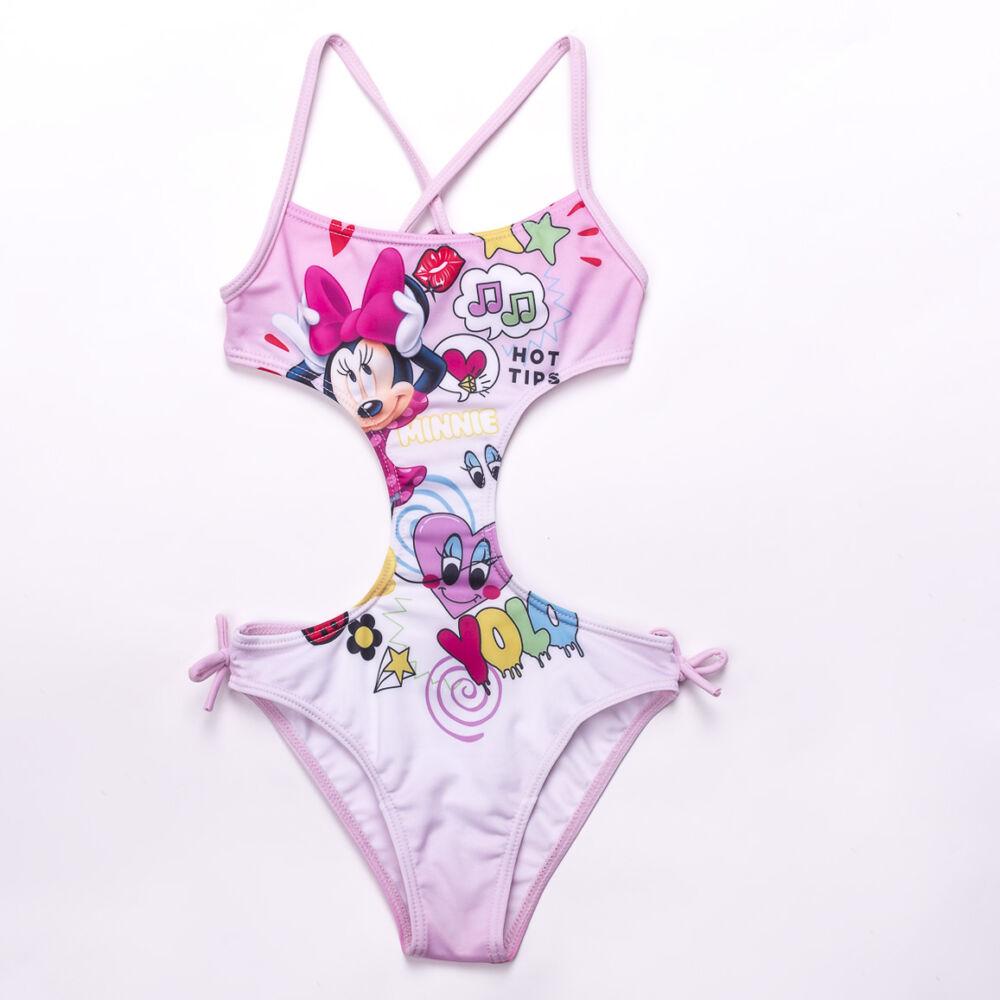 Minnie egér kislány fürdőruha - trikini - világosrózsaszín - 122