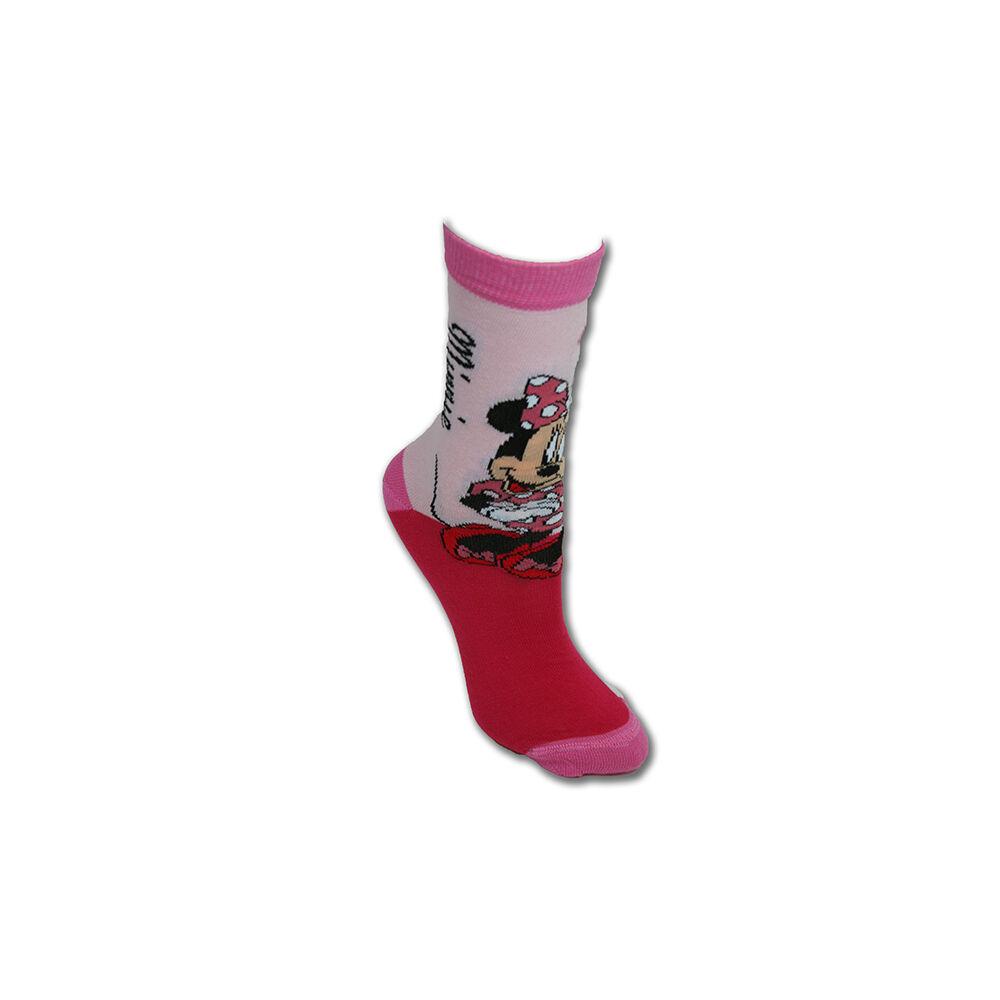 Gyerek pamut bokazokni - Minnie egér - 31-34 - rózsaszín
