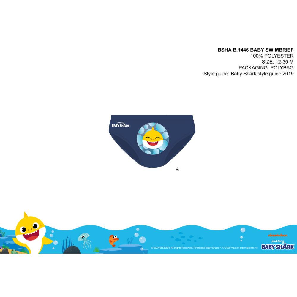 Baby shark baba fürdő alsó kisfiúknak - sötétkék - 80
