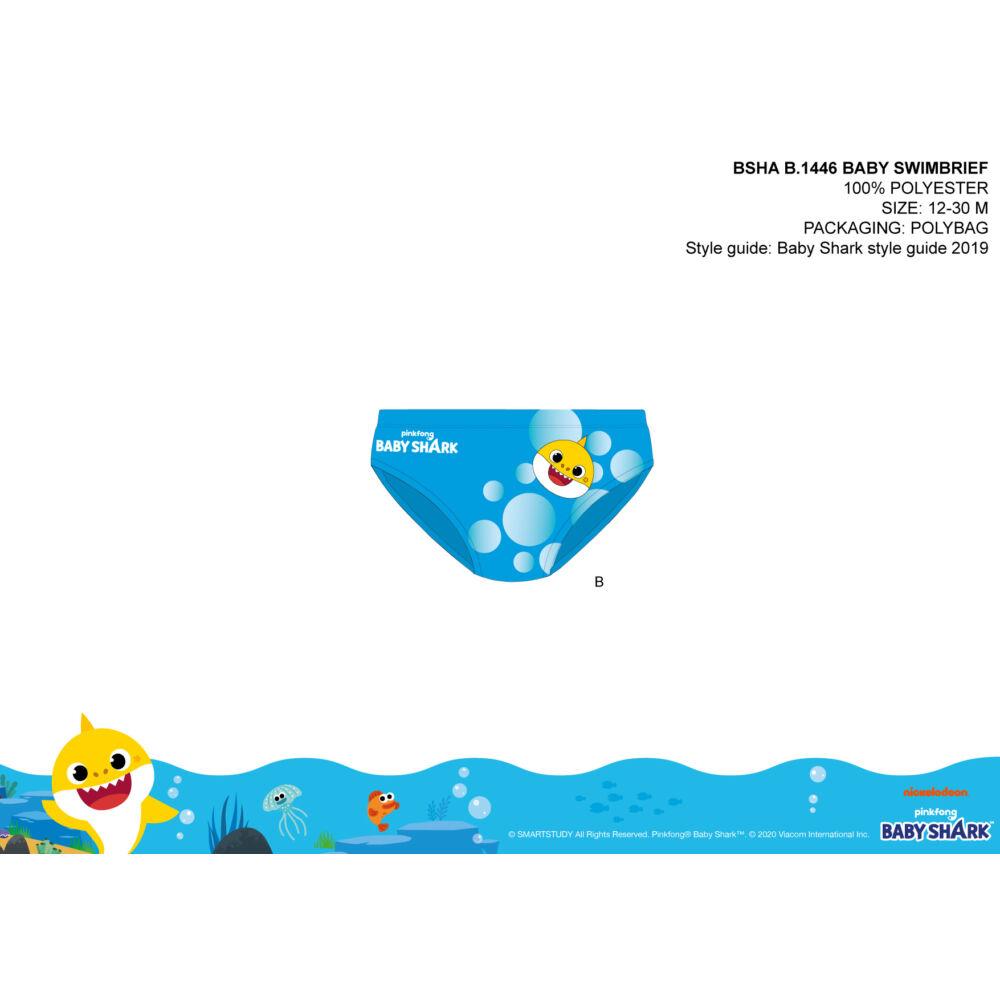 Baby shark baba fürdő alsó kisfiúknak - világoskék - 86