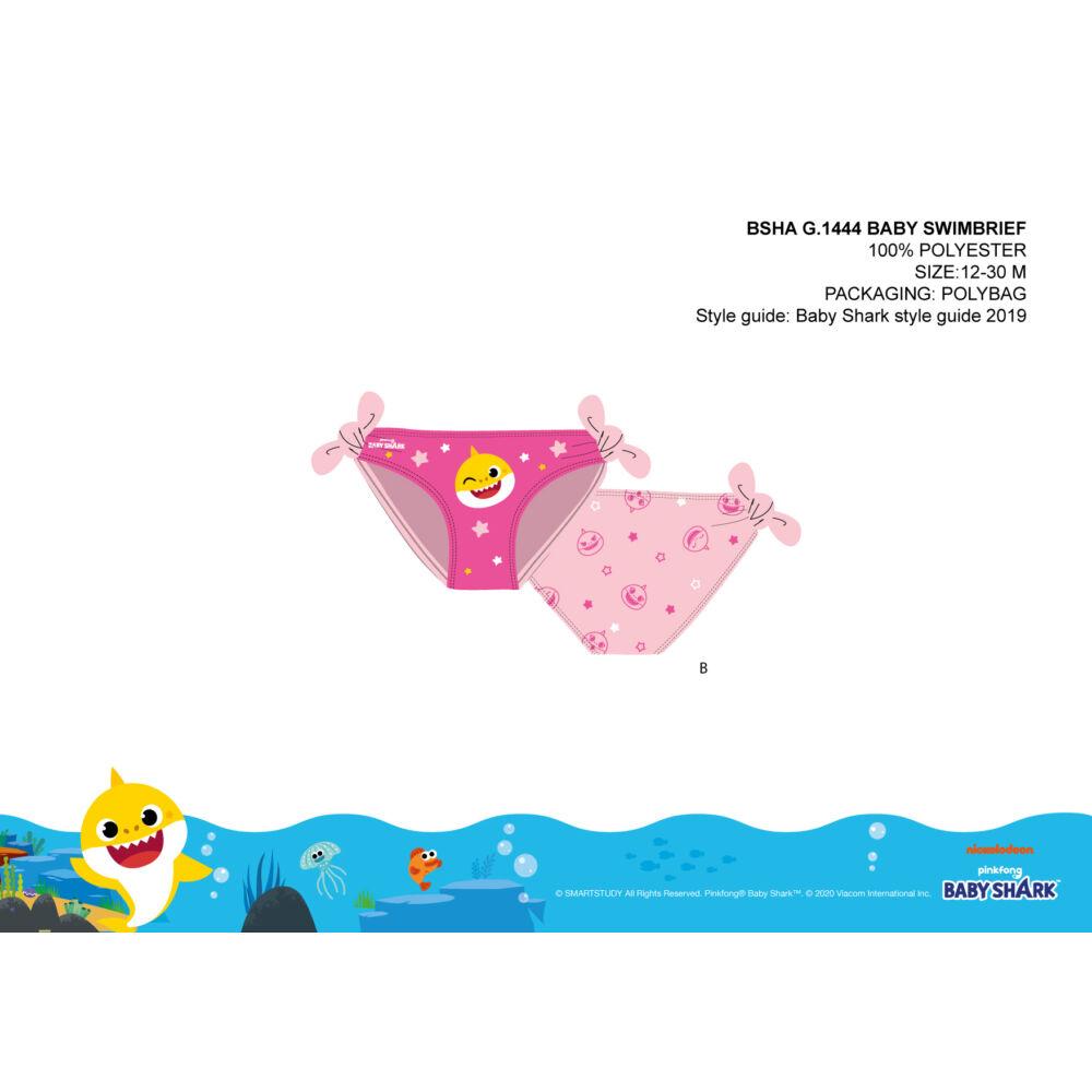 Baby Shark baba fürdőruha alsó kislányoknak - világosrózsaszín - 80