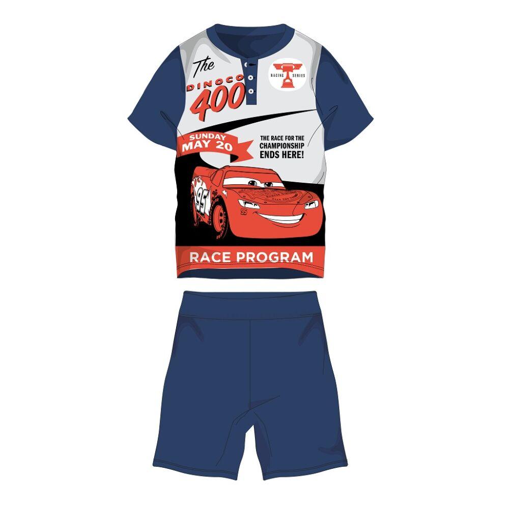 Disney Verdák nyári rövid ujjú gyerek pizsama - pamut jersey pizsama - sötétkék - 104
