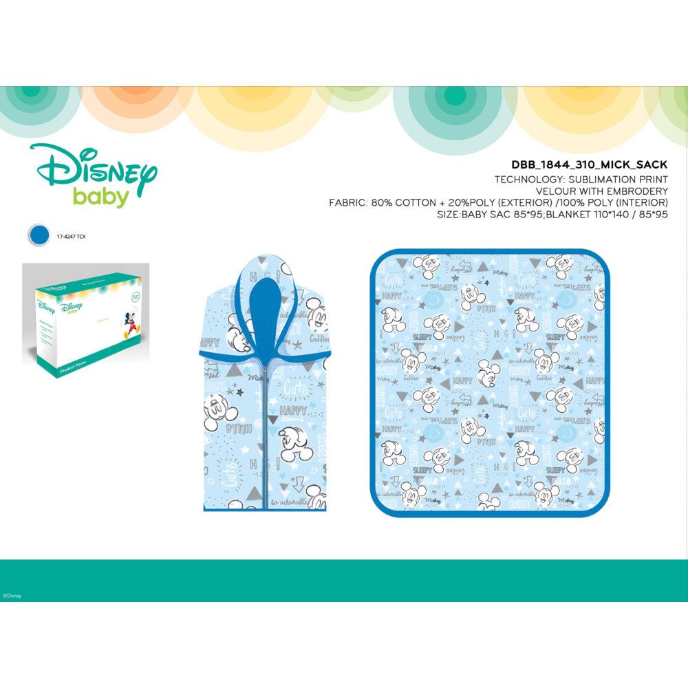 Disney Mickey egér babatakaró és babazsák 2 in 1 - 85x95 cm - világoskék