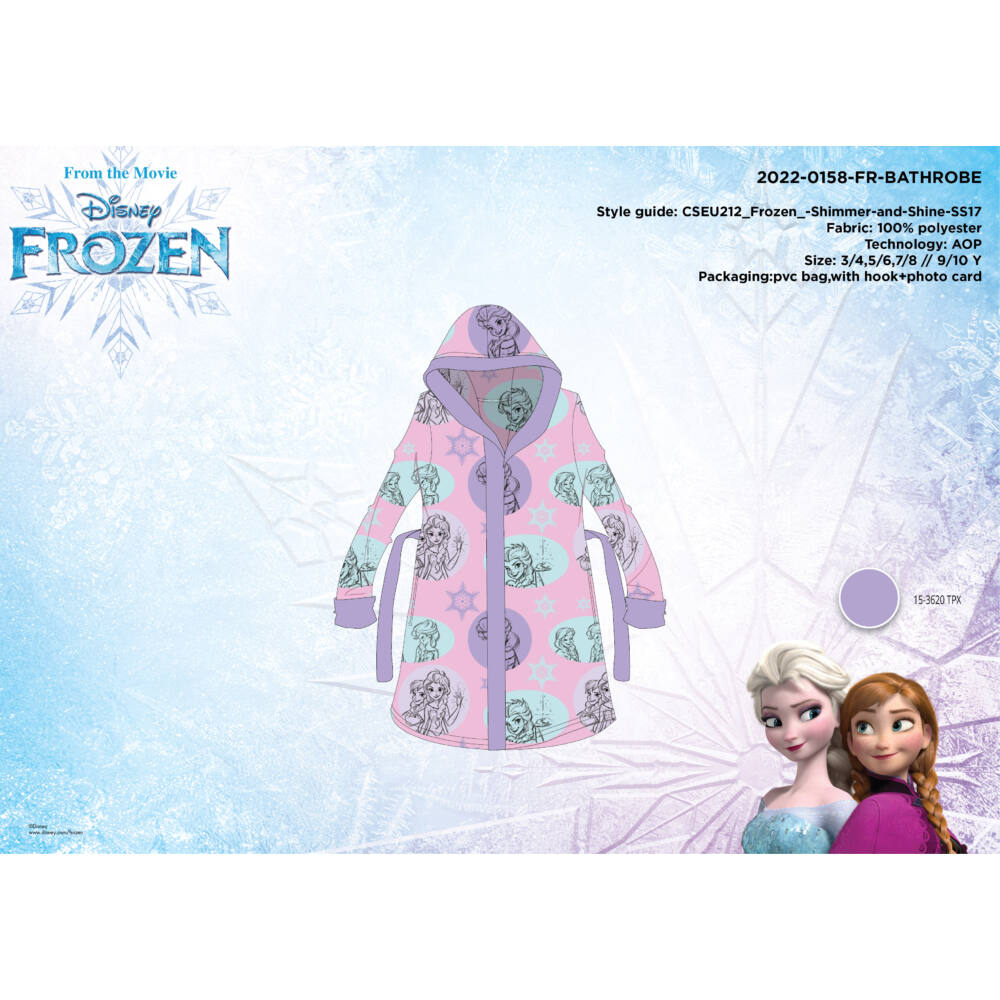 Mikroszálas kapucnis köntös gyerekeknek - Disney Jégvarázs - 98-104
