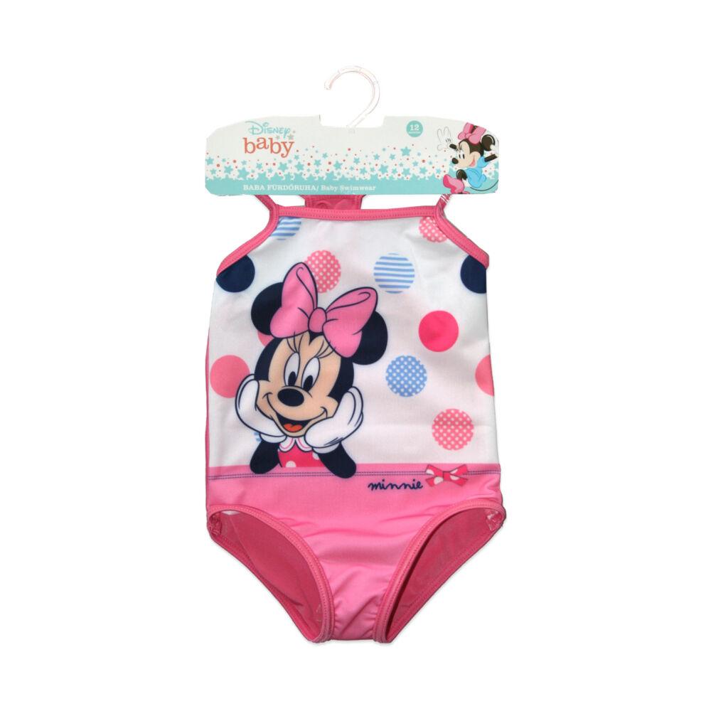 Baba egyrészes fürdőruha kislányoknak - Minnie egér - pöttyös - rózsaszín - 98