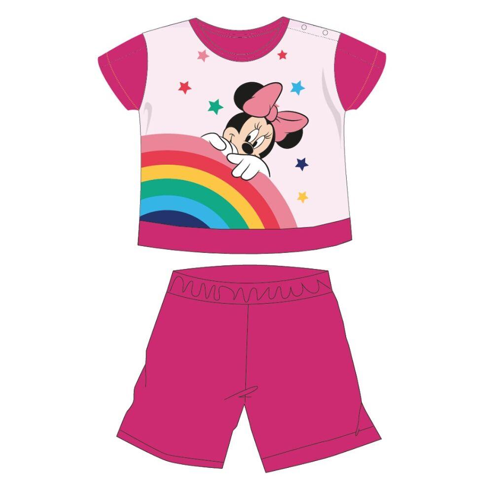 Disney Minnie egér nyári rövid ujjú baba pizsama - pamut jersey pizsama - pink - 86