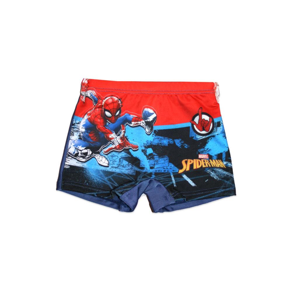 Pókember fürdő boxer kisfiúknak - Spiderman felirattal - sötétkék - 98