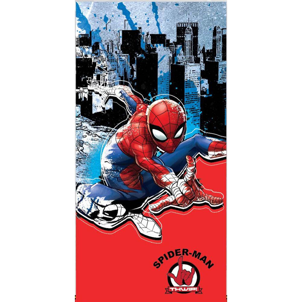 Pókember gyerek strandtörölköző - 67x137 - piros-sötétkék