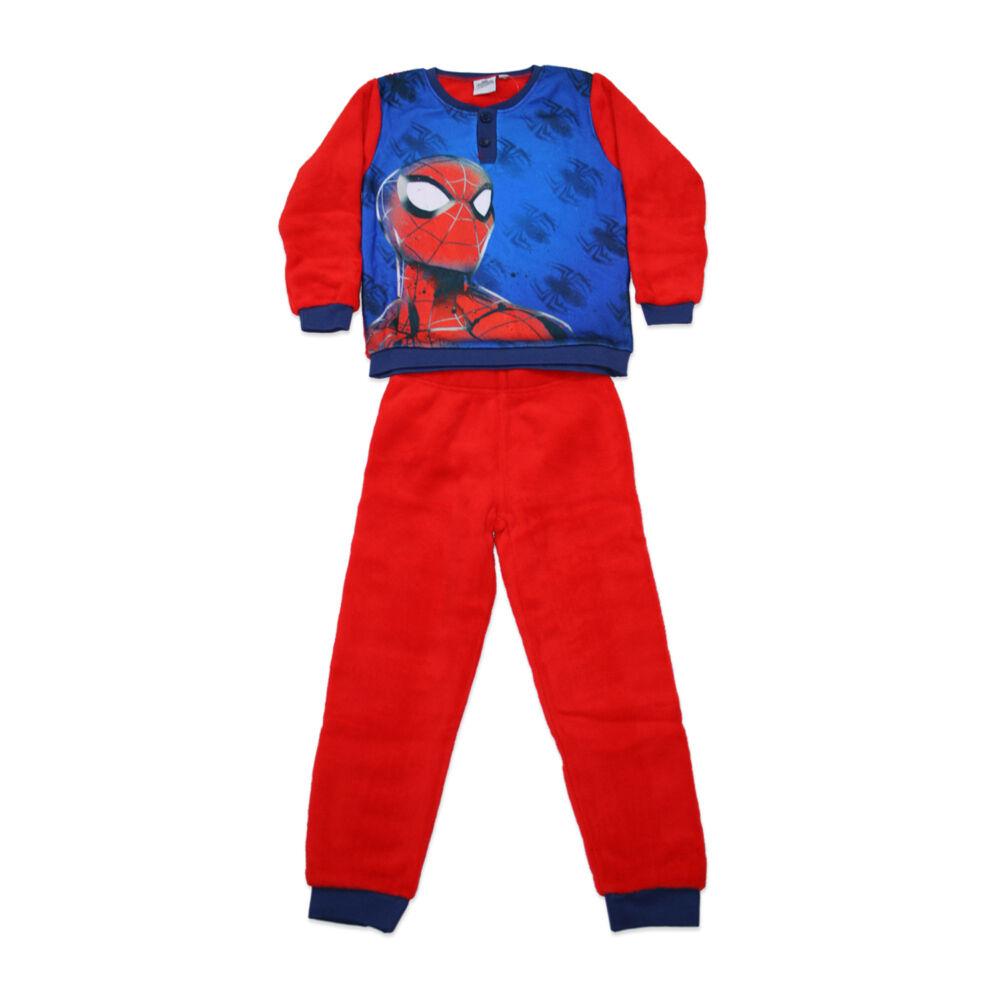 Gyerek téli coral pizsama - Pókember - piros - 98