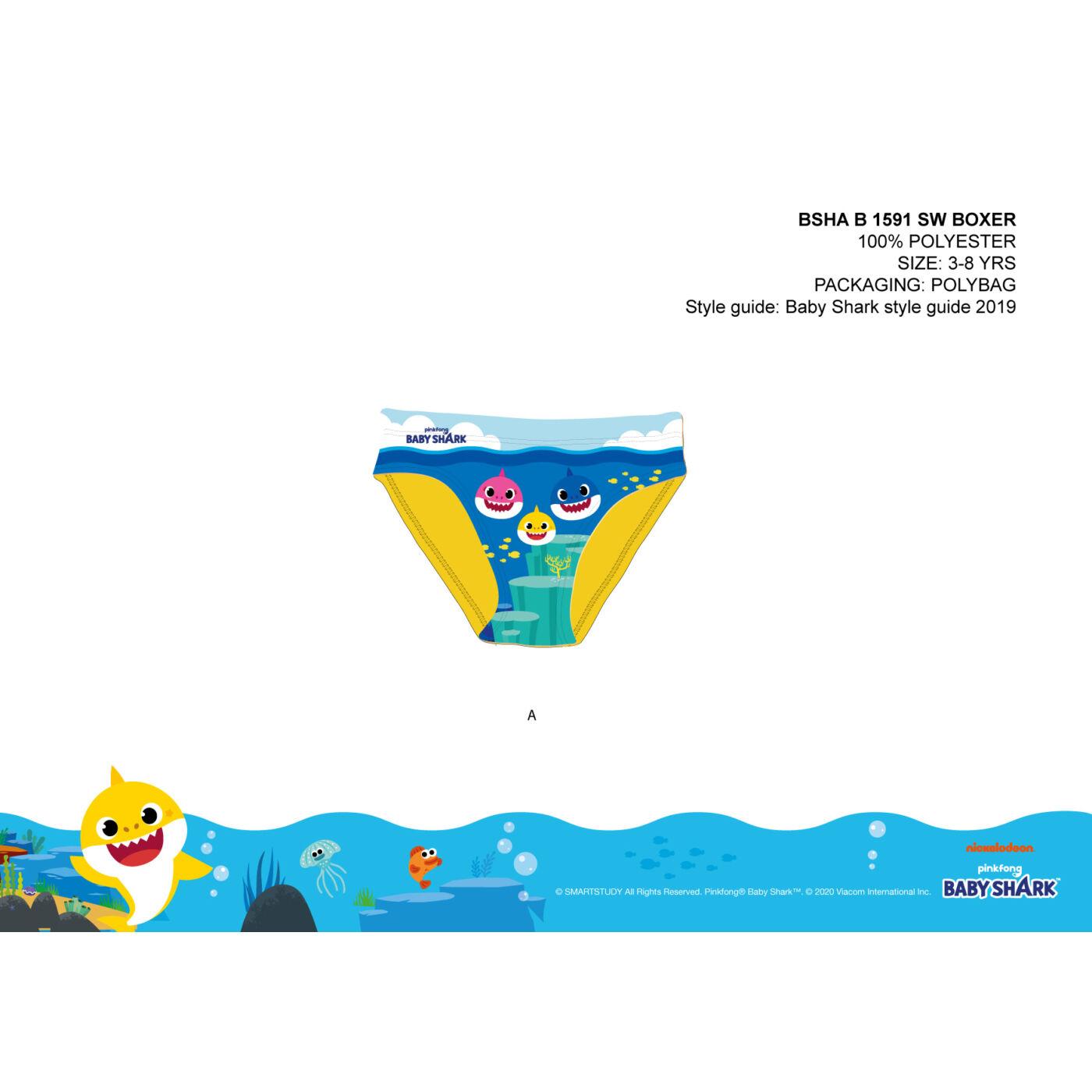 Baby Shark fürdő alsó kisfiúknak